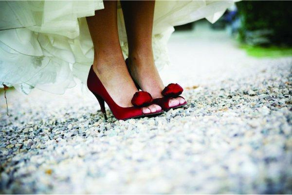 Adrienne's Fabulous Red Wedding Shoes