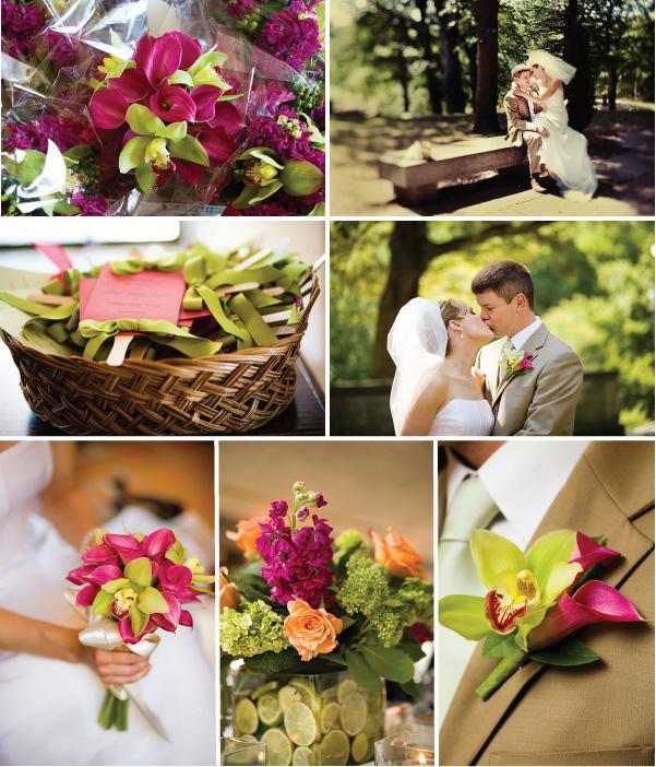 Sensational Summer Wedding In Cleveland Has Striking Color