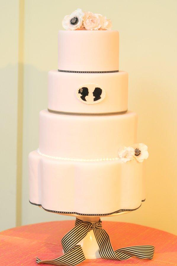 Silhouette Wedding Cake by K Rose Cakes