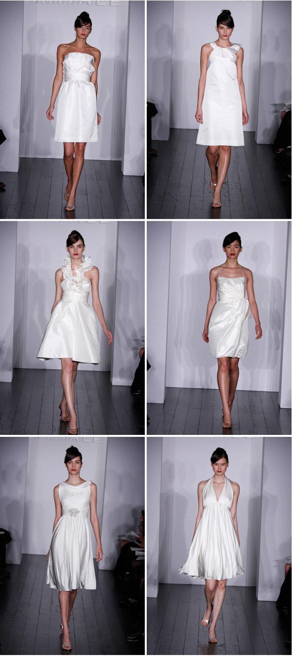Short Wedding Dresses By Amsale