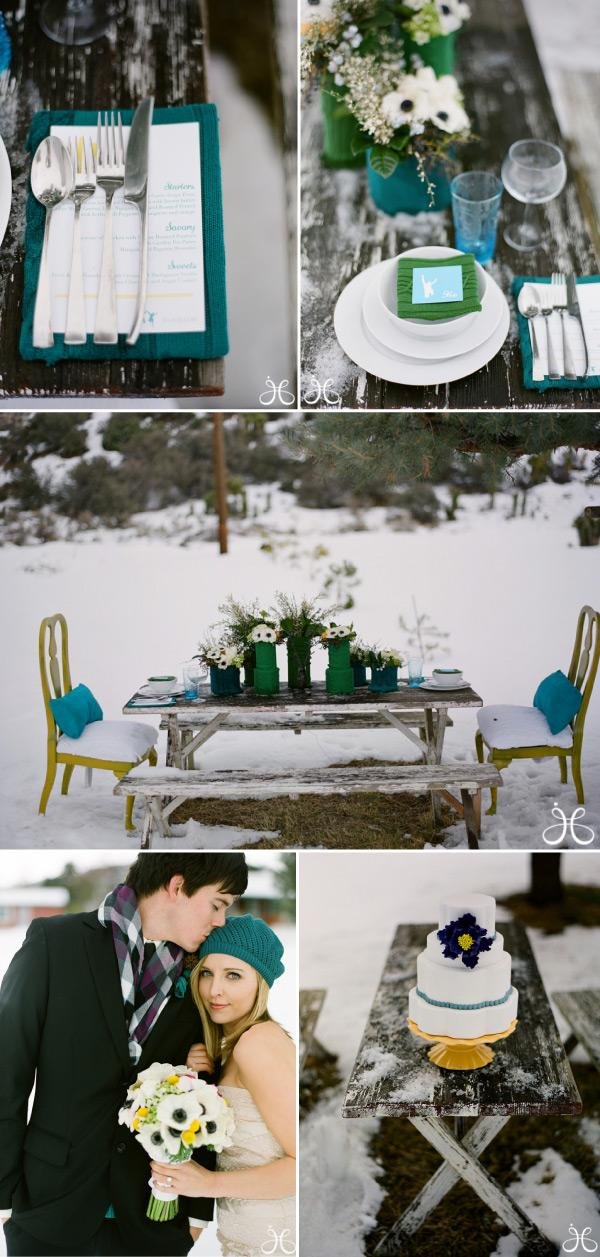 winter wedding by jessica claire