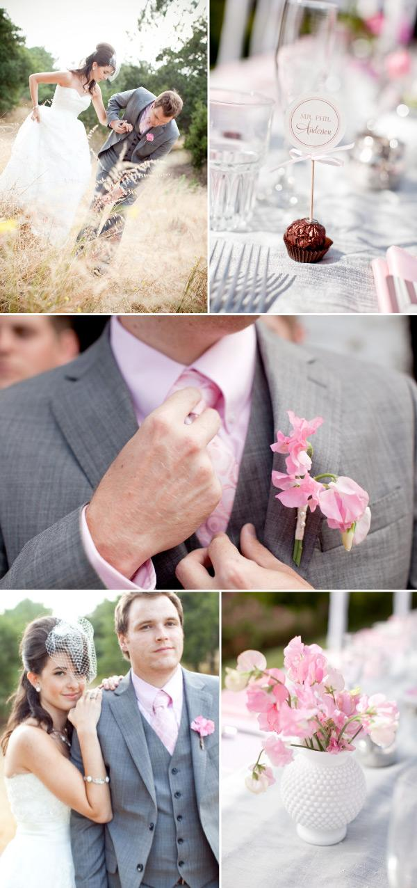 pink wedding with diy style