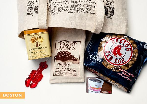 boston welcome bags