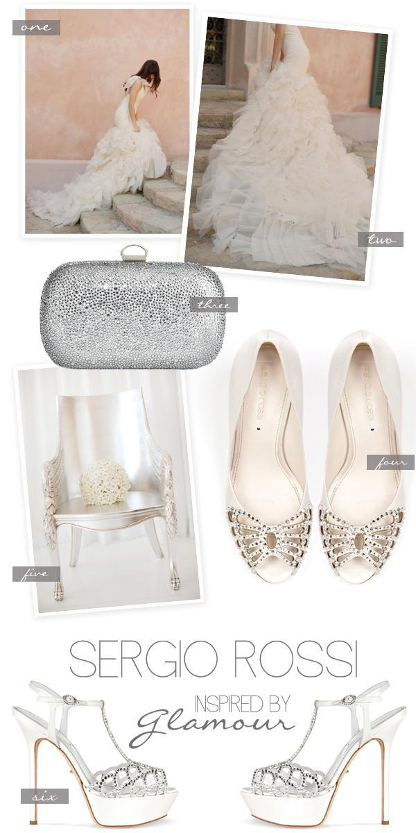 d2fb2180fc0 Glamorous Wedding Day Shoes by Sergio Rossi