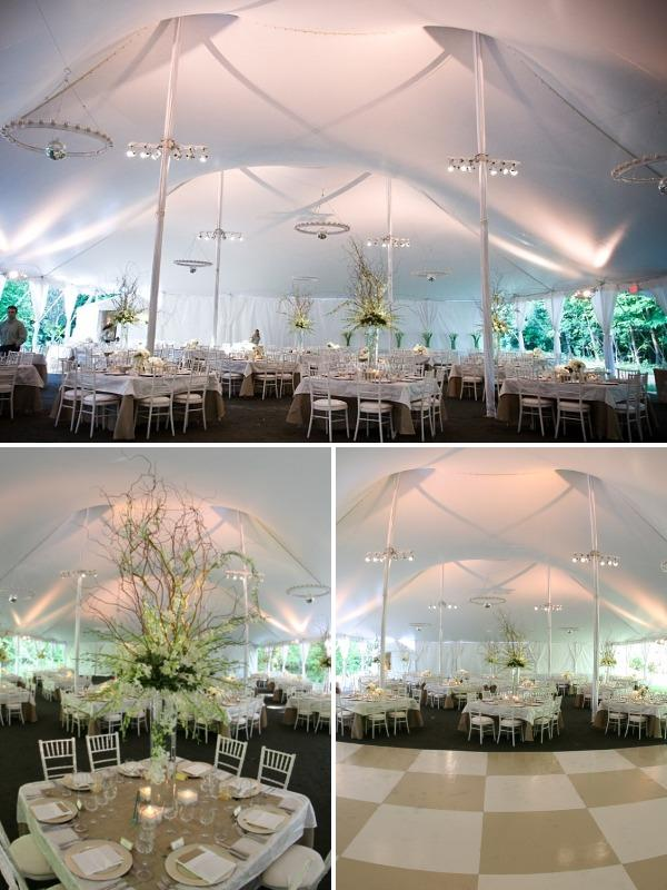 Tented Wedding Reception At The Clifton Inn From Skyline Tent Company