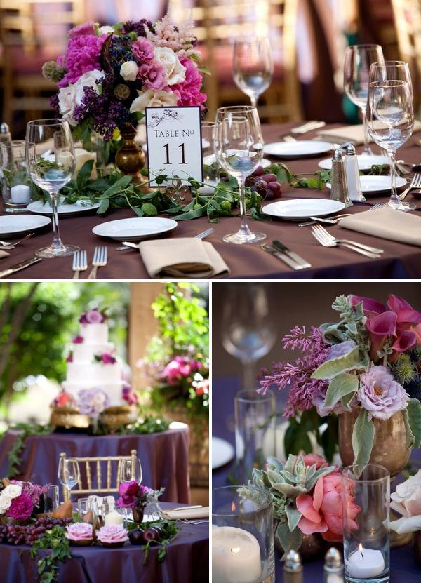 Amber Events Tables Centerpieces