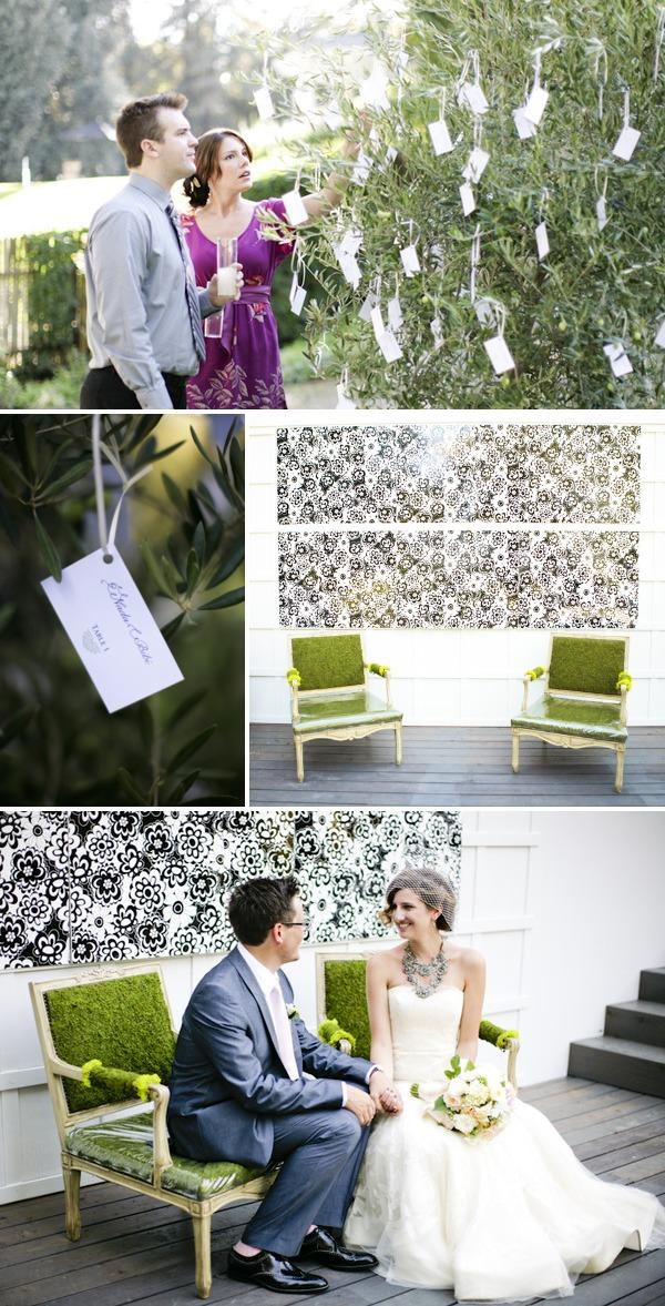 Couple + Card tree + moss chairs